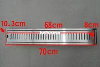Wholesale 70cm stainless steel nickel bathroom kitchen shower square floor waste grate sanitary floor drain