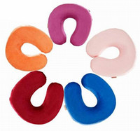 Wholesale U Shaped Travel Pillow Memory Foam Neck Support Comfortable Nursing Cushion Pillow DFI