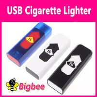 Wholesale USB LIGHTER Hot Electronic Cigarette and Cigar Rechargeable Power Battery Cigarette Flameless