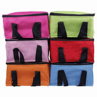 Metal ice box - New Portable Oxford Lunch Organizer Box Waterproof Ice Pouch Warm Keeping Picnic Insulated Cooler Bag DGZ