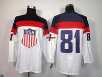 Cheap Olympic Winter Games USA #81 Kessel Hockey Wears ice hockey Jerseys 2014 Men Discount Outdoor Uniform All Teams Hockey Jerseys Sportswear