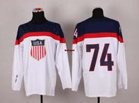 Cheap Olympic Winter Games Hockey Jerseys USA #74 Oshie white Sports Jerseys 2014 Brand Hockey Wears Discount Sports Uniform New Collection