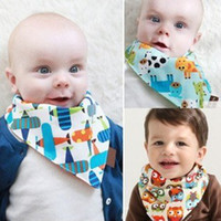 Wholesale Baby Bandana Scarf Bibs Feeding Clear Triangle Cotton Kid Head Scarf Infant Bibs Burp Cloths Double sided