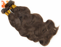 Wholesale DHL Dark Brown A Brazilian Natural Body Wave Human Hair Extensions Unprocessed Remy Virgin Hair Weave Weft BW024