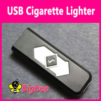 Wholesale Novelty Electronic Tobacco Cigarette Cigar URechargeable USB Lighter Light White Flameless Brand new