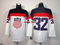 Cheap Hockey Jerseys olympics Mens ice hockey Jerseys USA white 32 Quick Top Sellers Sports Jerseys 2014 Hot Sale Outdoor Apparel Mix Order