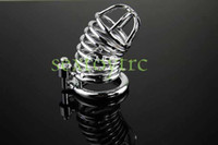 Male Chastity Cage  Male Chastity Device Steel Material Perfect Chrome Small Size Men Cock Cage Bird Lock Free Shipping