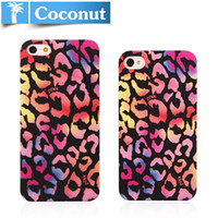 Cheap hard case for iphone 4 4S 5 5s design proctective cover leopard print colorful A0168