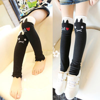 Cheap free shipping high quality socks free size leggings cotton bamboo new arrival --[ 319 ] Autumn new Korean imports cute cat AB board High So