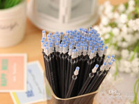 Wholesale mm mm Black blue red bullet water refill good quality smooth writing stationery gel pen refill gel ink pen