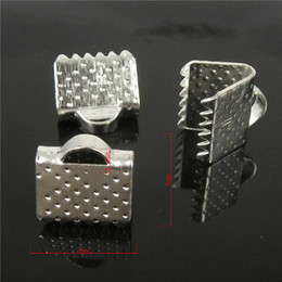 wholesale 160pcs 8mm Silver Plated Pits Clips Ribbon Clamps Connectors ribbon crimp for DIY bracelet H7806