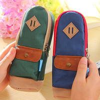 Cheap Vintage backpack pencil case stationery bags storage bag coin purse