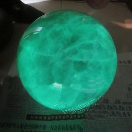 Wholesale 80mm Glow In The Dark Stone crystal Fluorite sphere ball Iceland SPAR