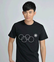 Cheap 2014 Russia Winter Sochi Olympic Games Olympic Ring T-Shirt 100%cotton Special design sports jerseys T shirt
