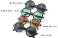 Wholesale New Arrived Round cursor retro fashion sunglass colorful Couple glasses men and women sunglasses tide glasses A049