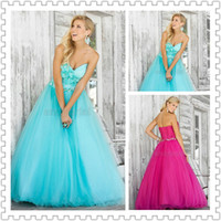2014 Stunning Sweetheart Prom Gown Floor- Length Ball Gown Ev...