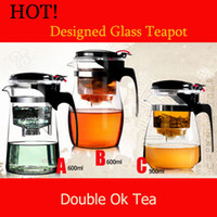 ECO Friendly tea cups - Promotion ml Glass Teapot Kinds Clear Glass Filter Tea Cup Travel Decorative Heated Glass Flower Tea Pots Choice Tea Set