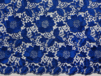 Wholesale Heavy Full Plain Fushia Royal Blue Lilac Beige Aqua Cotton French Lace Swiss Voile Lace African Lace Fabric