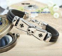 Wholesale 2014 trends bracelets jewelry leather rope and magnetic clasp per