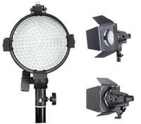 Wholesale 200W K LED Studio Video Light with Dimmer BarnDoor for DSLR Camera Camcorder
