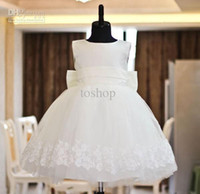 Reference Images Girl Bow Birthday gift party dress baby child princess dress flower girl dress costumes children's cloth
