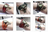 Cheap free shipping-- High Quality Genuine Leather Vintage Watch Women bracelet Wristwatches