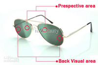 Wholesale Anti Track Monitor eyewear Look back Sunglass Mirror Rearview Rear View sunglasses Behind Vision Anti Tracking Monitor Black Fash glasse