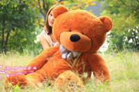 Wholesale New arrival FEET TEDDY BEAR STUFFED LIGHT BROWN GIANT JUMBO quot size cm birthday gift