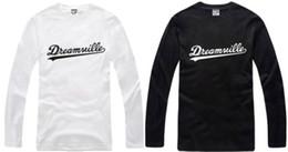 Wholesale Chinese Size S XXXL Retail tee long sleeve t shirt DREAMVILLE J COLE LOGO printed t shirt hiphop tops Cotton color
