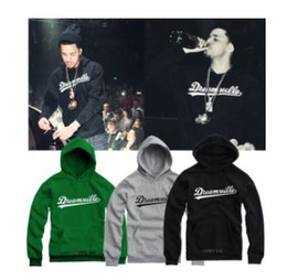 Wholesale New sale DREAMVILLE J COLE LOGO Printed PulloverUnisex Adult Size Hoodie Sweatshirt with hood color