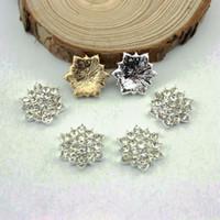 Wholesale mm Flat Back Rhinestone Button For Hair Flower Wedding Invitation BHP01010
