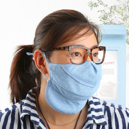 Wholesale 2pc Four seasons windproof masks cotton net fabric anti uv sunscreen protection masks p2419