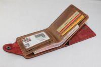 Men bifold wallet pattern - Retro Man Genuine Leather Bifold Wallets Hunter Pattern Card Holders Multi Pocket Purse Brand New ZDY