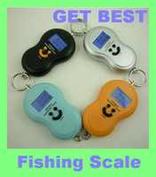 Cheap Freeshipping 2pc lot 40kg 10g Portable Electronic Digital Scale Hanging Fishing fish Hook Pocket Weighing Balance scales wh-a04L