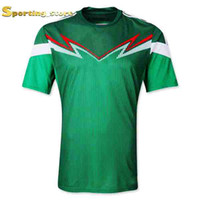 Wholesale Mexico Home Soccer Jersey Green Soccer Apparel Brand Thai Quality Top Quality Sports Jerseys Well Embroidery Logos And Names Apparel