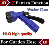 Wholesale DHL Pattern Function Water Gun Water Spray Nozzle Sprayers For Expandable Garden Hose
