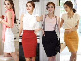 Wholesale Womens Fitted Business Bodycon Short Career High Waist Pencil Skirt XS XL