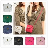 Wholesale Girls Lady s Faux Leather Satchel Purse Casual Tote Cross Body Sling Buckle Messenger Bags DAR