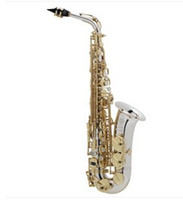 alto saxphone - Alto Saxphone nickel body gold Key with case from china