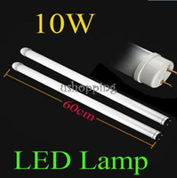 Cheap Free shipping 10PCS 6010W T8 LED Fluorescent Lamp 85V-265V LED lamp