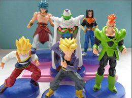 Hot sale Dragon ball z figures 11th Goku figure chidren toy Christmas gift (6pcs set)