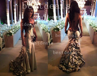 2014 Vestidos De Fiesta Mermaid long prom evening dresses Sw...