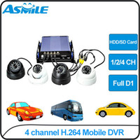Dome 4  4 channel car dvr surveillance system H.264 D1 resolution from asmile