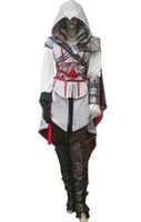ii costume achat en gros de-Cadeau Hallowmas Assassin's Creed II 2 3 Costume cosplay Ezio Blanc Version luxe Toute taille