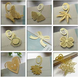 Wholesale Gold plated lovely bookmarks Mixed Design per Singpore post