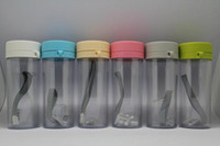 Wholesale For Promotion ML Plastic Water Cup With Lid Double wall Leakproof Belt Drinking Sealed Outdoor With Fashion