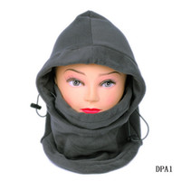 Wholesale Outdoor Grey Functional Mask Hat Skiing Cycling Face Shield Hood Balaclava Cap DPA1