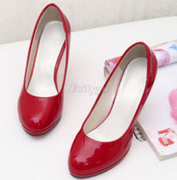 Wholesale 2014 Womens Ladies Stiletto High Heels Office Dress Work Court Platform Pumps Shoes Black Red Colors Ex24 Freeshipping