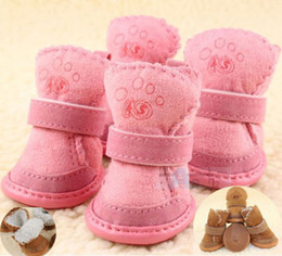 Wholesale New Hot Fashion Chihuahua Warmmer Dog Shoes Boots Pet Winter Apparel D2