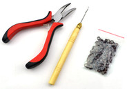 Wholesale Feather Hair Extensions Tool Kit Pliers Hook amp Micro Silicone Link Beads
